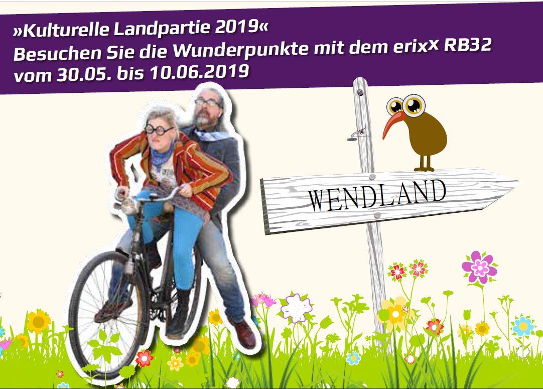 Zug-Sonderfahrplan Kulturelle Landpartie